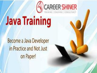 Java training institute in Noida helps students to learn Java –Career Shiner