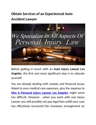 Best Auto Injury Lawyer Los Angeles@autoinjury-lawyer