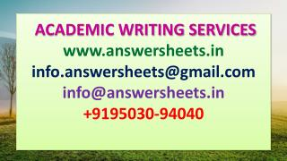 PDM CASE STUDY ANSWER SHEETS