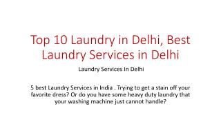 Top 10 Laundry in Delhi, Best Laundry Services in Delhi