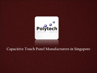 Capacitive Touch Panel