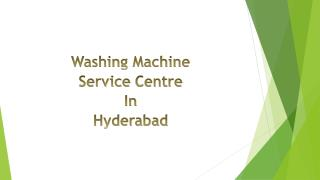 Washing Machine Service Center in Hyderabad