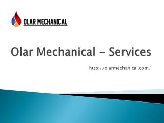 Commercial Plumbing Hamilton and More Services | Olar Mechanical