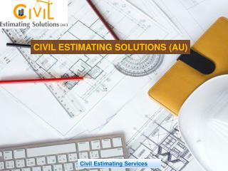 Civil Estimating Services In Australia | Construction Cost Estimator
