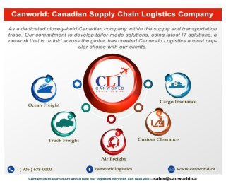 Canworld: Canadian Supply Chain Logistics Company