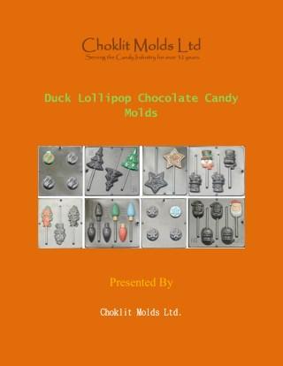 Duck Lollipop Chocolate Candy Molds