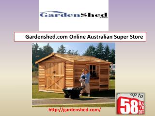 Wide Selection Of Garden Sheds, Timber Sheds, Absco Sheds Online