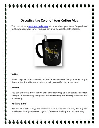 Decoding the Color of Your Coffee Mug