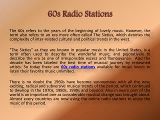 PPT - 60s radio stations PowerPoint Presentation - ID:7805917