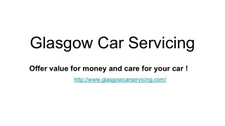 Service and MOT Glasgow