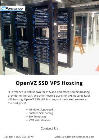 OpenVZ SSD VPS Hosting
