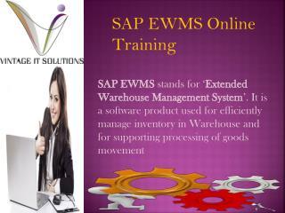 SAP EWMS Training Material