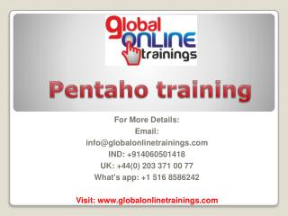 Pentaho training | Pentaho Data Integration PDI online training – GOT