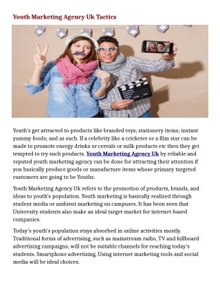 Youth Marketing Agency Uk Tactics