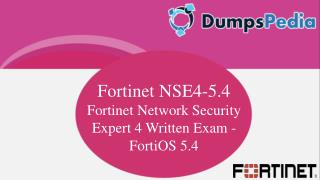 NSE4-5.4 Questions Answers Dumps