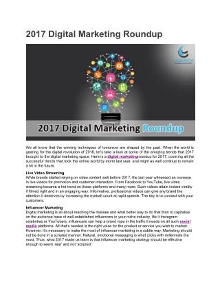 2017 Digital Marketing Roundup