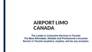 Toronto Airport Limo | Airport Limo Canada Official | Toronto Pearson Airport