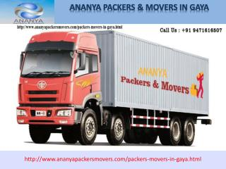gaya Packers and Movers | 9471616507| Ananya packers and movers Packers