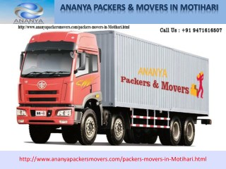 Motihari Packers and Movers | 9471616507| Ananya packers and movers Packers