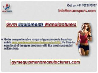 Gym equipment's Manufacturer in India
