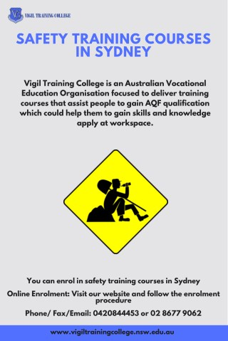 Security Training Courses In Sydney
