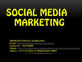 Social Media Marketing Training Institute Chandigarh