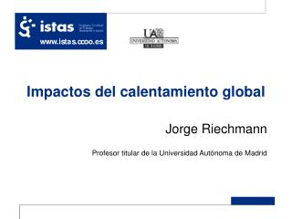 Impactos del calentamiento global