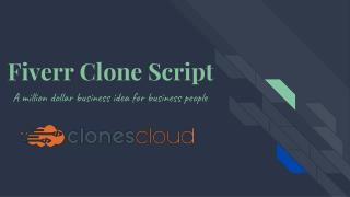Fiverr CloneScript - Build Your Own Freelance Marketplace