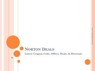 Norton March 2018 deals - Latest Coupon Code