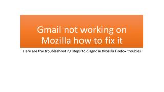 Why My Gmail account not working in Firefox