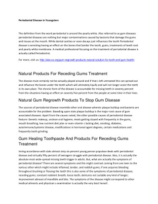 Gum Healing Toothpaste And Products For Receding Gums Treatment
