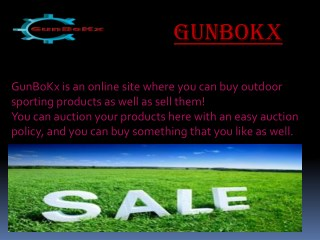 Looking for fishing gear? Get them from GunBoKx
