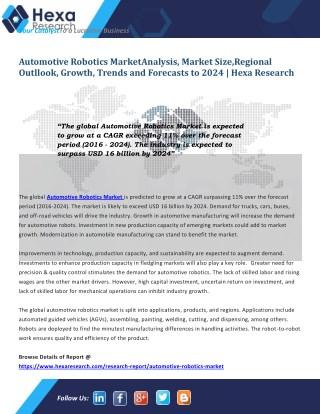 How Automotive Robotics impacts the Automobile industry