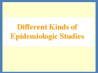 Different Kinds of Epidemiologic Studies
