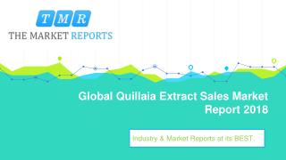 Global Quillaia Extract Market Size, Growth and Comparison by Regions, Types and Applications
