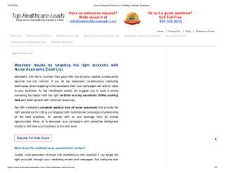 Nurse Assistants Database