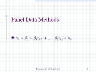 Panel Data Methods