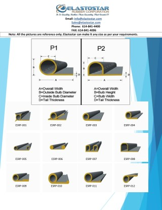 P Shaped Silicone Rubber Gaskets By Elastostar