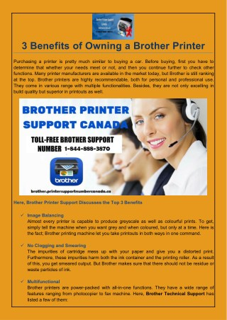 3 Benefits of Owning a Brother Printer?