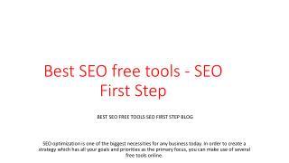 Best SEO free tools - SEO First Step