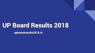 UP Board 12th Science Results 2018