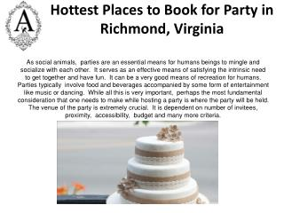 for party room reservation in Richmond
