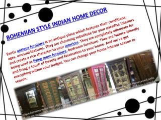 BOHEMIAN STYLE INDIAN HOME DECOR