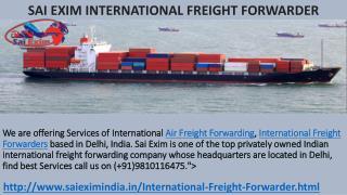 International Air Freight Forwarding Services,Delhi,India