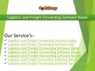Logistics and Freight Forwarding Software Dubai