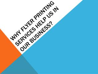 Flyer Printing Services | Letterbox Marketing