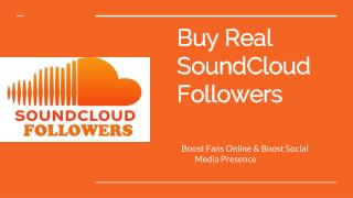 Why should you Need to Buy SoundCloud Followers