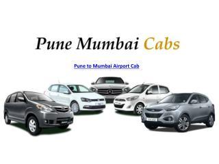 Pune to Mumbai Airport Cab