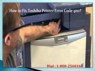 Fix Toshiba Printer Error Code 4011? Dial 1-800-256-0160 Helpline