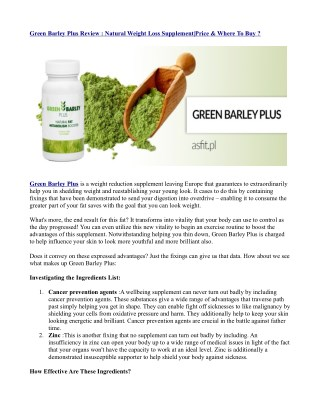 https://healthsupplementzone.com/green-barley-plus/